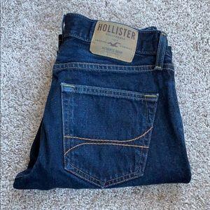Hollister Slim Straight Dark Wash Jeans